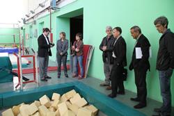 Visita Josep Salom, Pavelló Municipal d'Esports