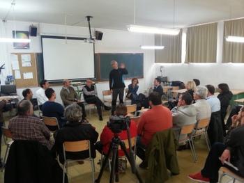 Presentació a l'institut Manuel de Cabanyes