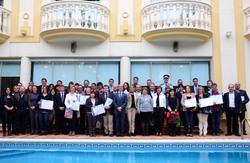Fotografia de grup dels premiats. Foto: Node Garraf