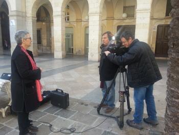 Montserrat Comas, directora de la Biblioteca Víctor Balaguer, entrevistada pel programa