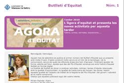 Imatge del nou Butlletí electrònic d'Equitat de l'Ajuntament de VNG