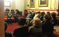 La reunió va tenir lloc al Saló de Plens