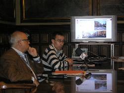 Xavier Oller i Francesc Surroca han explicat el projecte a la premsa, aquest matí