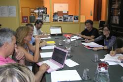 La trobada es va fer a la biblioteca del Museu del Ferrocarril