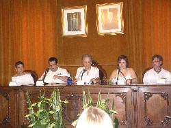 Imatge de l'acte de lectura del convit a la Festa Major