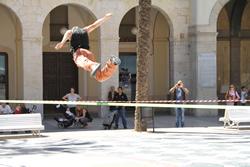 Els participants feien salts i acrobàcies sobre una cinta