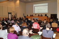 La presentació del PAM, a la sala d'actes de l'EPSEVG