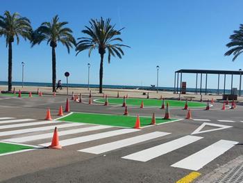 La nova rotonda del passeig de Ribes Roges