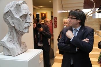 El president de la Generalitat, Carles Puigdemont, al museu Balaguer