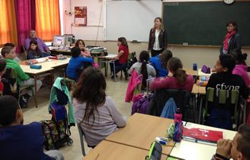 Alumnes de quart de l'escola Ginesta
