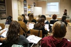 Un dels tallers adreçats a professionals que es fan al CRIA