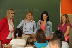 Neus Lloveras i Ariadna Llorens han anat a l'escola Divina Providència en l'inici de curs