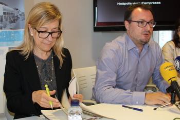 L'alcaldessa, Neus Lloveras, i el portaveu del Govern, Juan Luís Ruiz