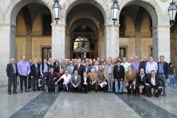 Antics jugadors i directius del CF Vilanova