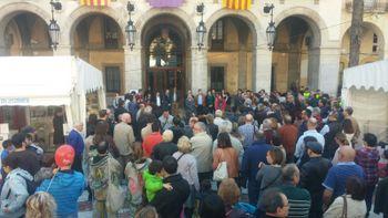 Concentració a la plaça de la Vila dissabte
