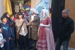 Inauguració dels guarniments del carrer del Jardí
