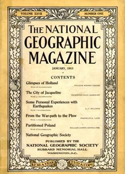 National Geographic, primera edició