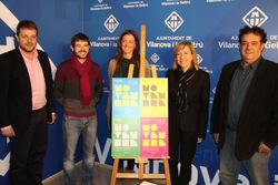 L'alcaldessa de VNg i el regidor de promoció Econòmica amb els representants de Viu COmerç, Vi+Teca i Estació Nàutica