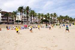 Torneig futbol platja, platja de Ribes Roges