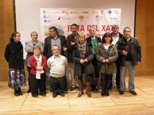 La delegació vilanovina amb el cuiner Fermí Puig