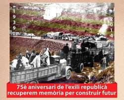 Acabada la guerra civil espanyola, centenars de milers de persones es van exilar en direcció França
