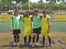 D'esquerra a dreta, Núria Moreno, Laura Escofet, Marcel Cortés i Sergi Tulloch