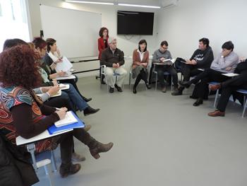 Els representants dels diferents agents econòmics, educatius i institucions que conformen el grup de treball