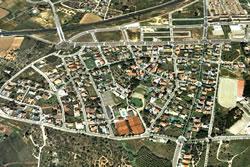 Imatge aèria de la zona de l'Aragai
