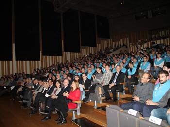 L'acte de graduació es va fer a l'Auditori Eduard Toldrà