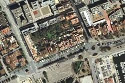 Imatge aèria de la zona entre les rambles de Joan Baptista Pirelli, Lluís Companys, passeig del Carme i Eixample de Mar
