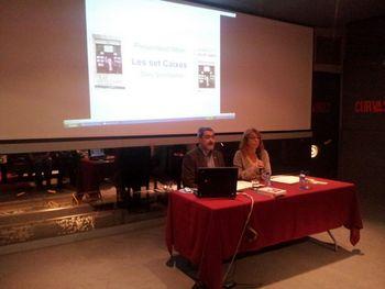 Enric Garriga i Pilar García van signar l'acord de col·laboració