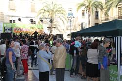 Festa de la solidaritat 'Un dia per l'esperança' a la plaça de la Vila