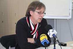 Tomàs Álvaro, avui en la roda de premsa de l'equip de govern