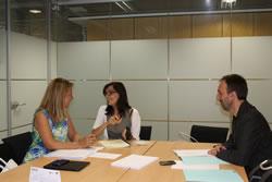 Ariadna Llorens i Mireia Solsona han parlat del suport que la Diputació de BCN dóna als projectes de l'IMET