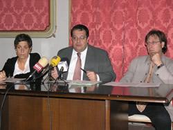 Iolanda Sánchez, Joan Ignasi Elena i Tomàs Álvaro, aquest matí