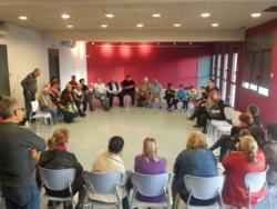 La trobada es va fer al Centre Cívic Tacó