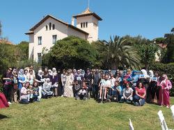 Foto del grup participant en la cloenda del projecte Compartim