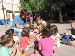 Lloveras i Albà s'han interessat per les activitats dels més petits