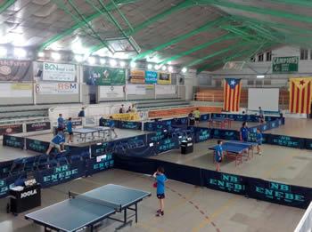 Partits de les categories base de Tennis Taula