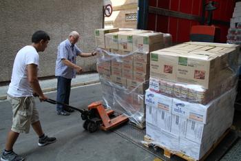 Aquesta setmana també han arribat 26 tones d'aliments secs provinents de la Unió Europea