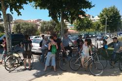Un dels grups va fer l'itinerari en bicicleta