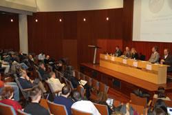 Imatge de l'obertura del congrés KM3NeT a l'auditori de Neàpolis
