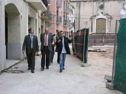 Membres del Comité de Seguiment han visitat alguns dels treballs del PINA