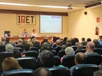 La sessió es va fer a la sala d'actes de l'IMET