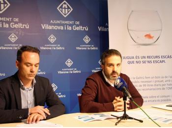 Gerard LLobet, regidor de Medi Ambient i Marc de Arias, gerent de la Companyia d'Aigües de Vilanova