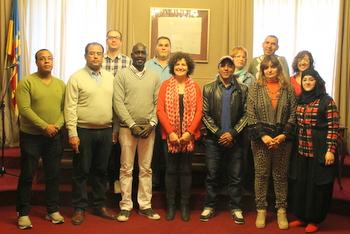 Recepció als participants del darrer taller, celebrat el mes d'abril