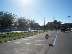 Les places d'aparcament es van pintar el mes d'octubre