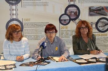 Glòria García, Blanca Albà i Pilar García en roda de premsa