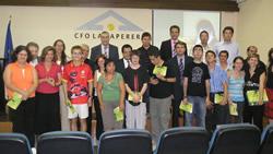 Fotografia de grups dels assistents a l'acte