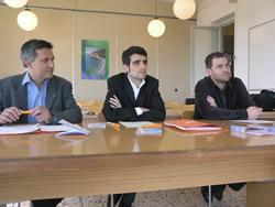 Enric Trullols, Xavier Carbonell i Xavier Medina, aquest migdia al Molí de Mar